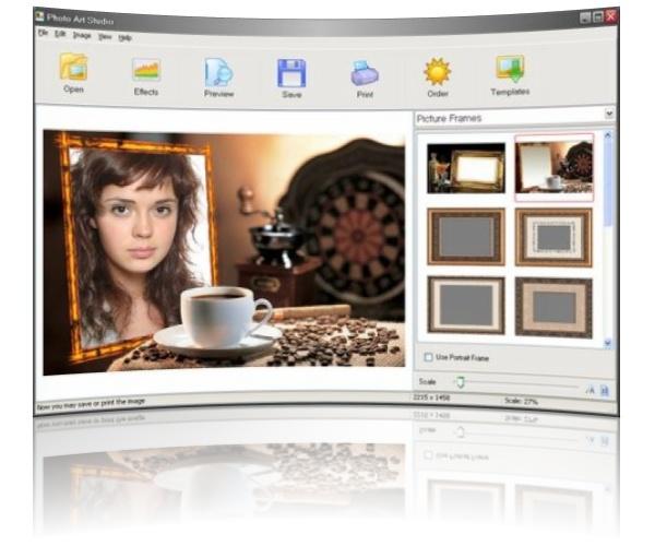 قرار دادن آنلاین عکس در قاب